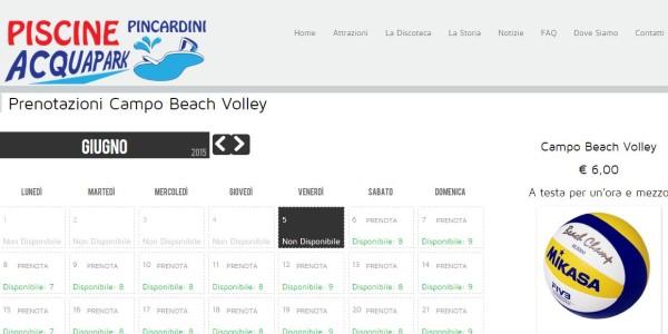 Beach Volley Prenotazioni online